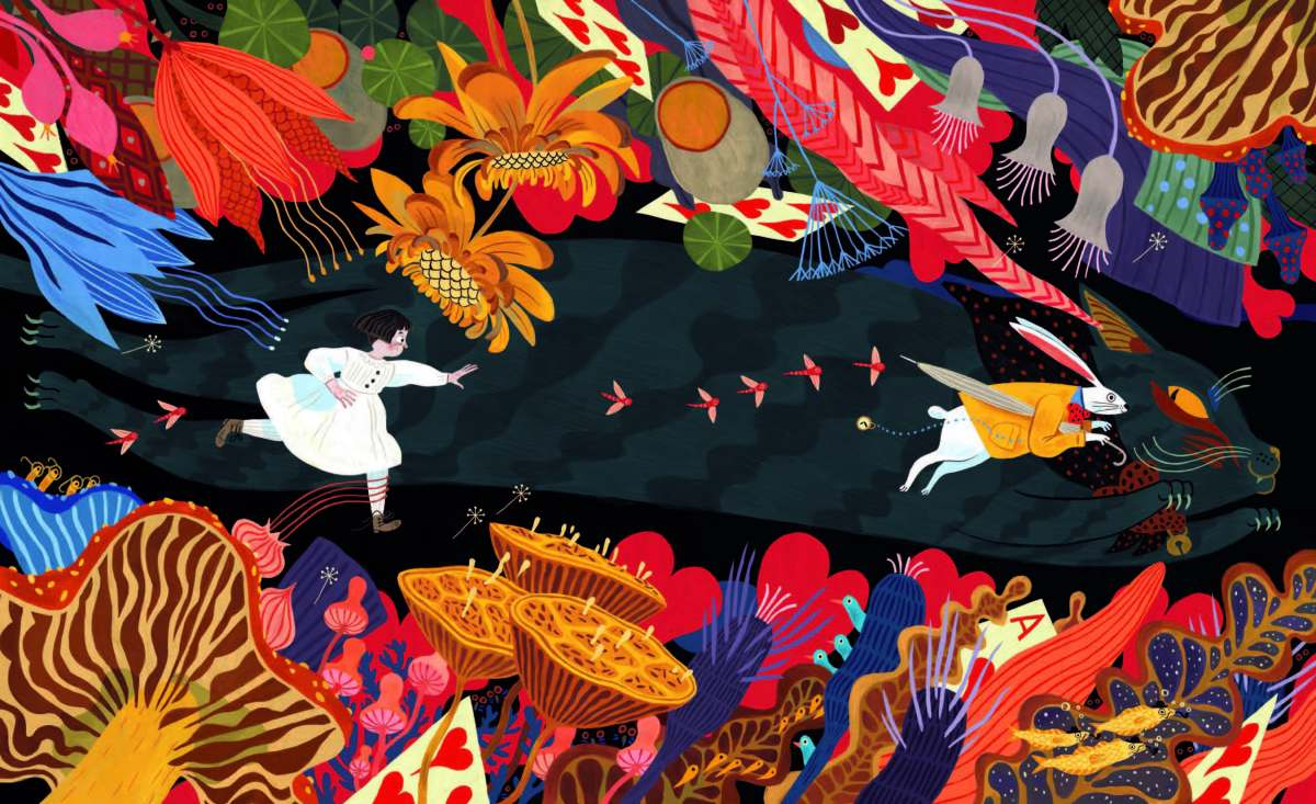 one fun day with lewis carroll illustration by Julia Sarda