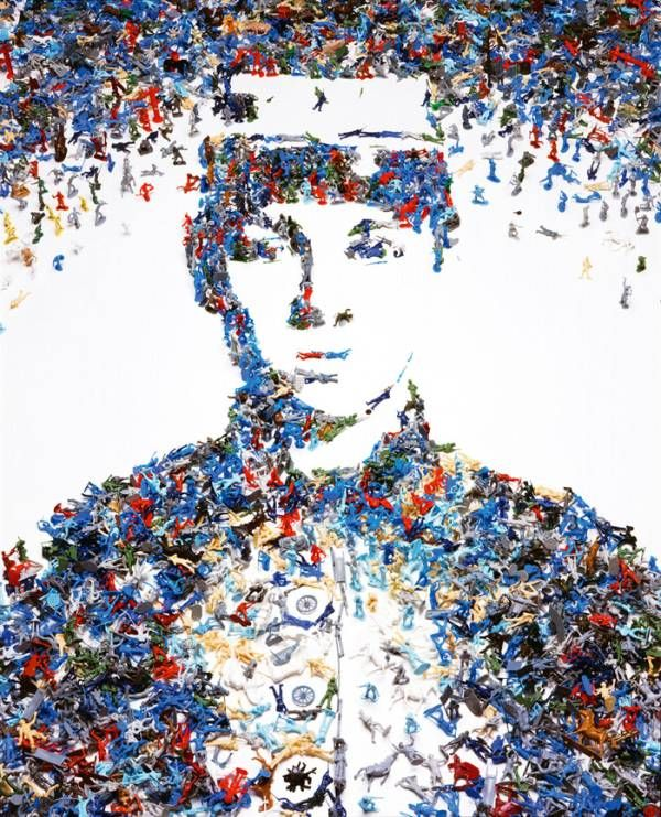 toy soldier by Vik Muniz