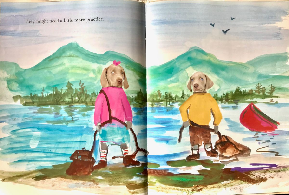 flo and wendell explore interior by William Wegman