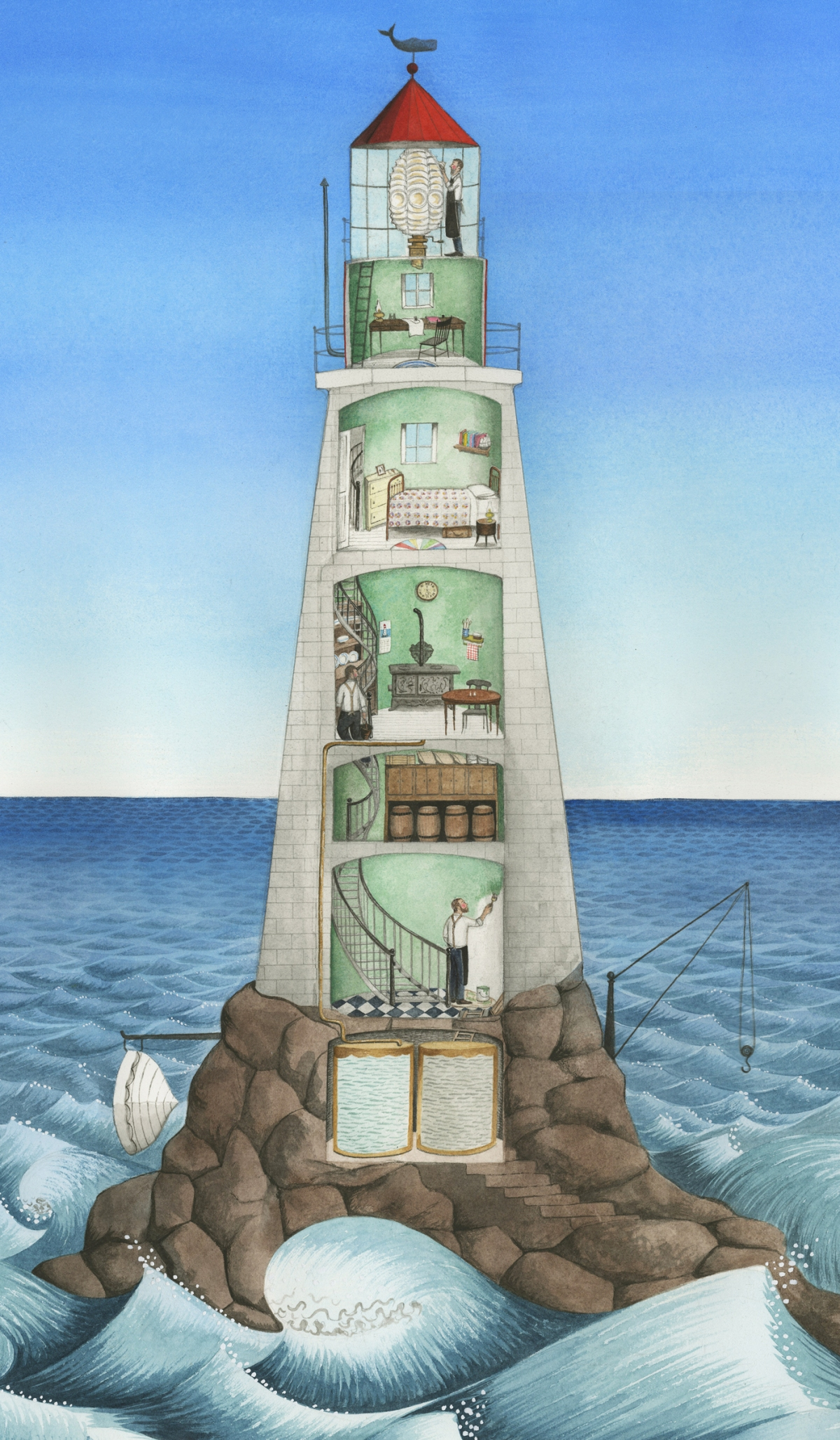 hello lighthouse illustration sophie blackall