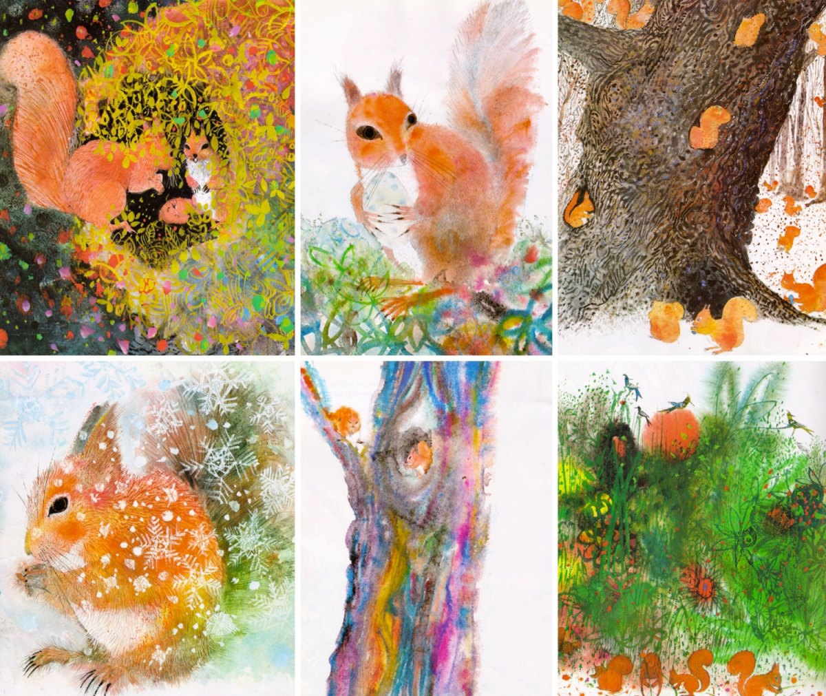 images from Squirrels by Brian Wildsmith