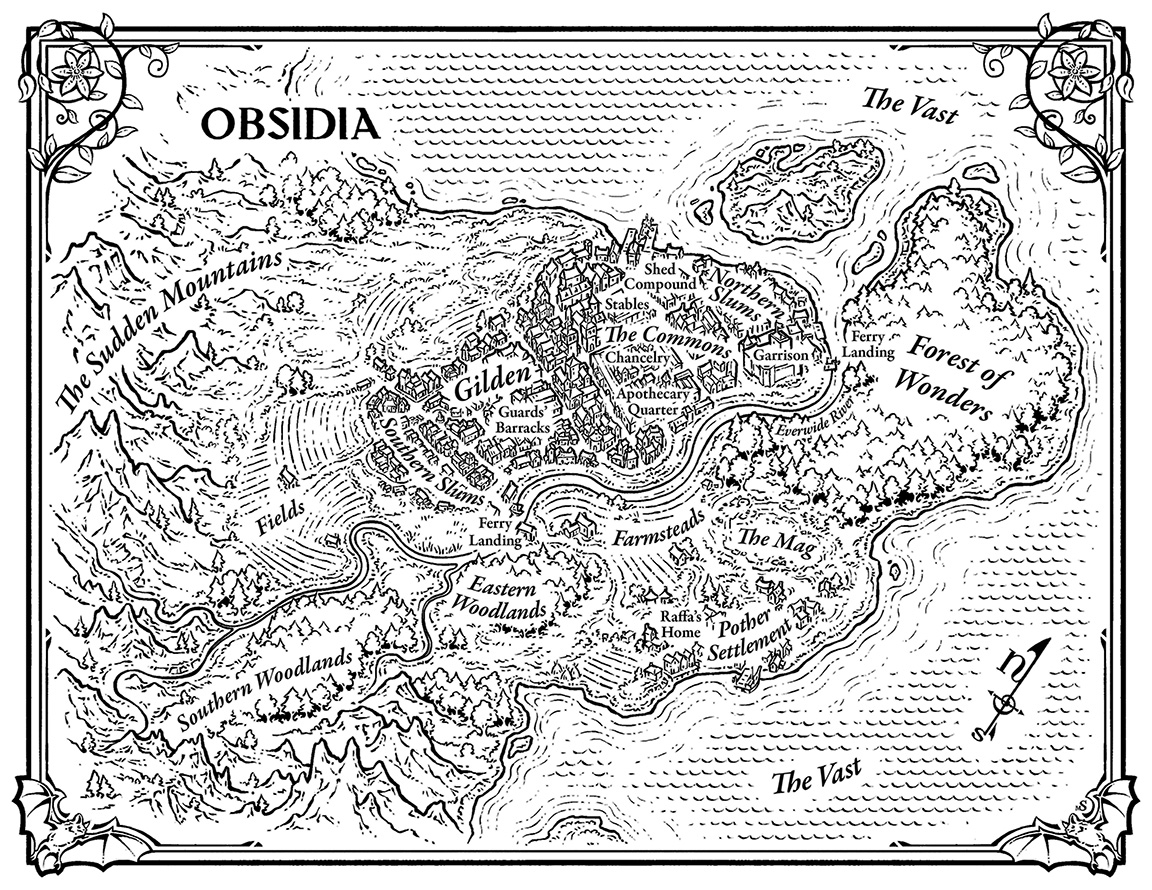 land of obsidia from Wing & Claw series