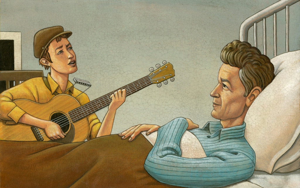 when bob met woody illustration by Marc Burkhardt