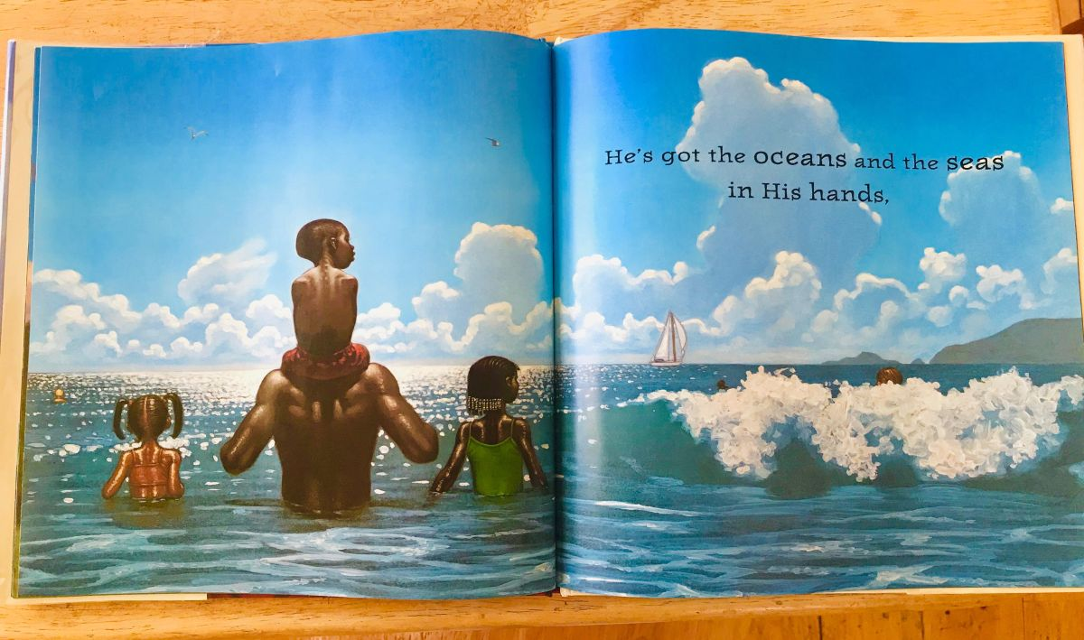 he's got the whole world in his hands Kadir Nelson