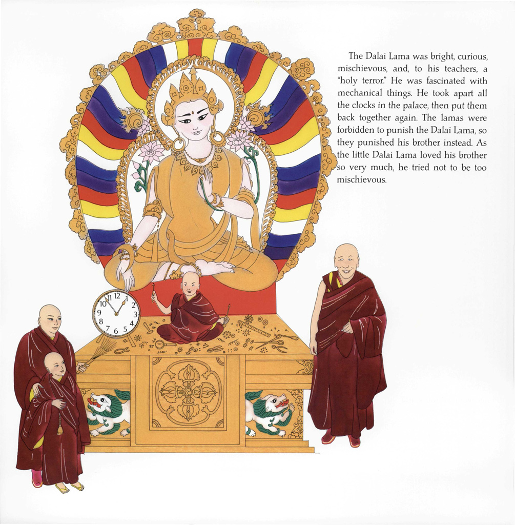 the dalai lama interior by Demi