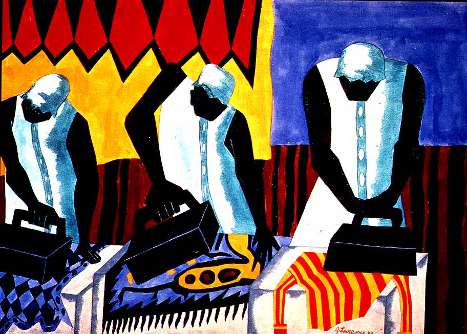 the ironers by Jacob Lawrence