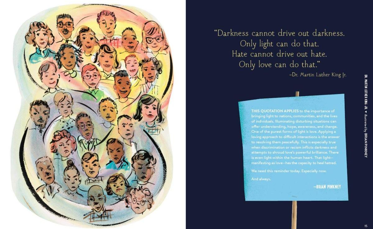 we are the change illustration Brian Pinkney