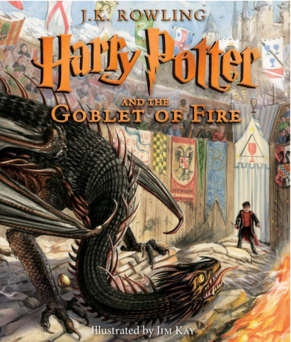 harry potter illustrated book 4