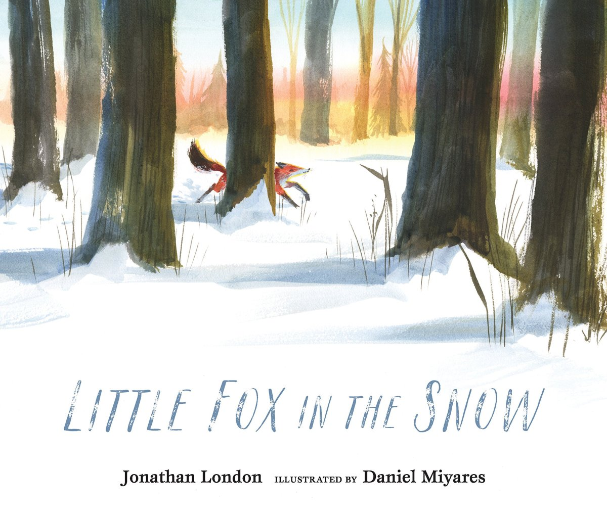 little fox in the snow cover