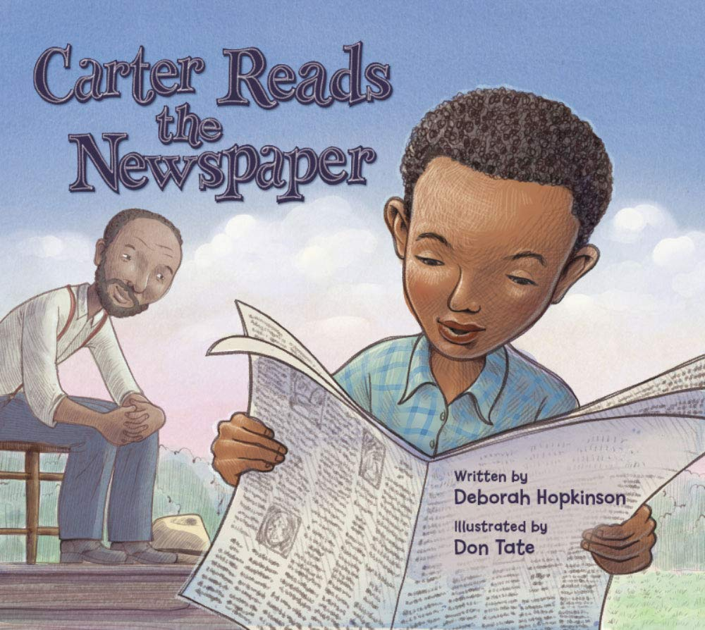 carter reads the newspaper cover