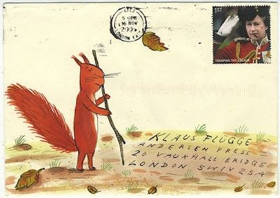 letters to klaus Axel Scheffler illustration