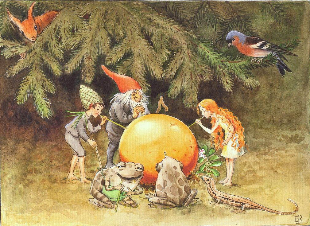 from The Golden Egg by Elsa Beskow